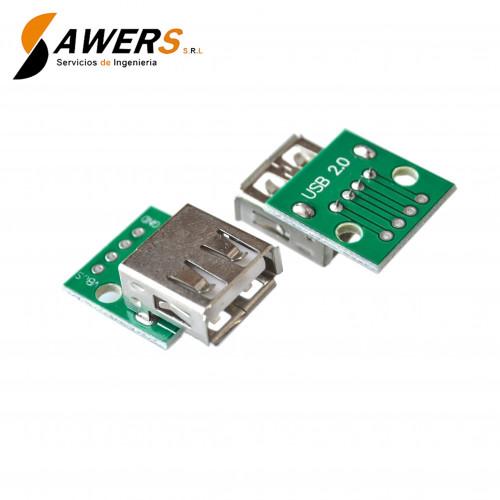 Zocalo USB Hembra a DIP PCB