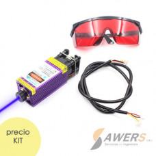 Modulo Laser 2.5W 450nm Lente Ajustable 12V