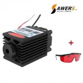 Modulo Laser de 2.5W 450nm 12V y Gafas