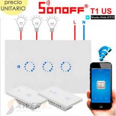 Sonoff Touch T0US3C (Interruptor de Luz Tactil WiFi 2020)