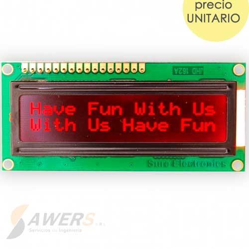 Pantalla LCD 16x2 (ROJO)