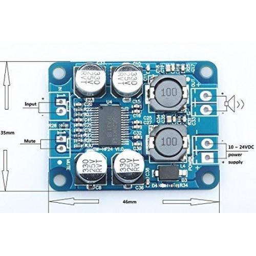 Amplificador de Audio TPA3118 60W (Mono)
