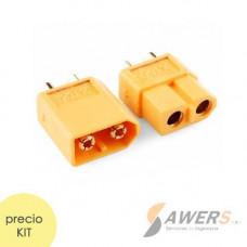 Conector XT60 baterias LIPO (Macho y Hembra)