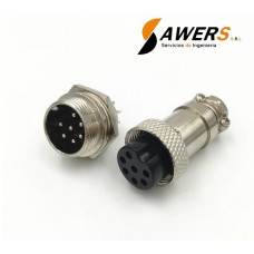 Conector de aviacion GX16 - 7pines