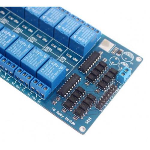Modulo Relay 16CH 5V/12V Optoacoplado