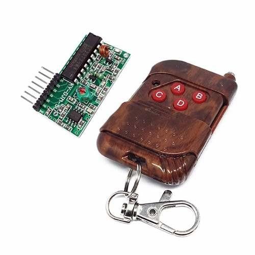 Control Remoto RF 4CH (Emisor y receptor 315Mhz)