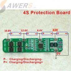 BMS Circuito de carga y descarga 4S 14.8V/6A 18650