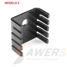 Disipador de Calor Aluminio TO-220