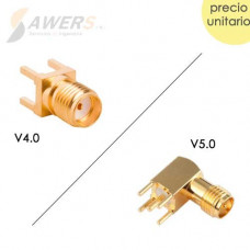 Zocalo Antena SMA Hembra para PCB