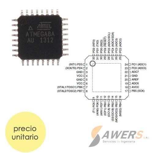 ATmega8 Microcontrolador SMD