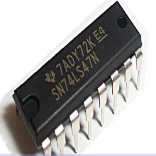 74LS47 DIP Decodificador BCD-7 Segmentos