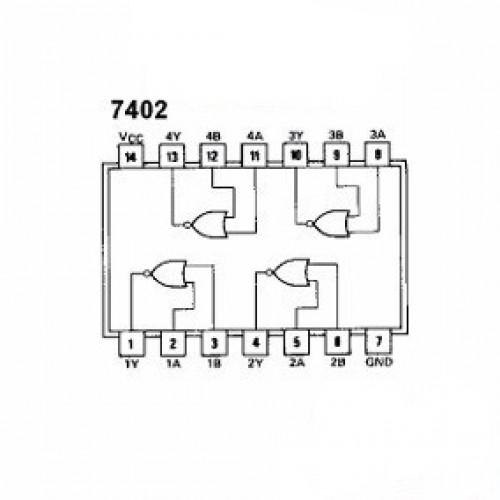 74LS02 Dip-14 TTL Circuito Logico NOR