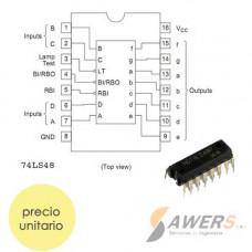 74LS48 DIP-16 Decodificador BCD a 7 segmentos