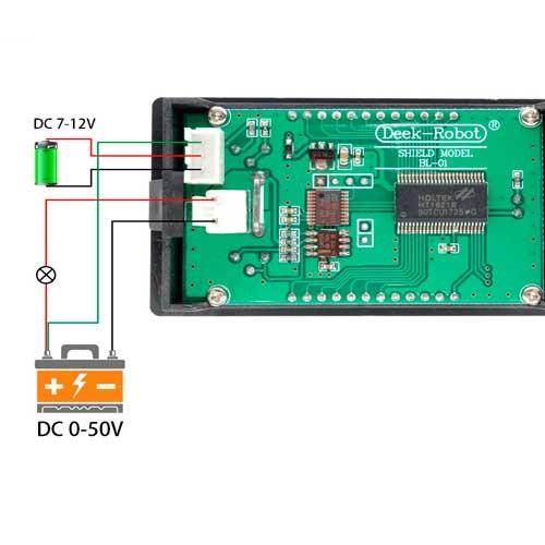 Voltimetro - Amperimetro - Wattimetro para tablero 50V-5A