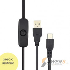 Cable microUSB con interruptor para RPI