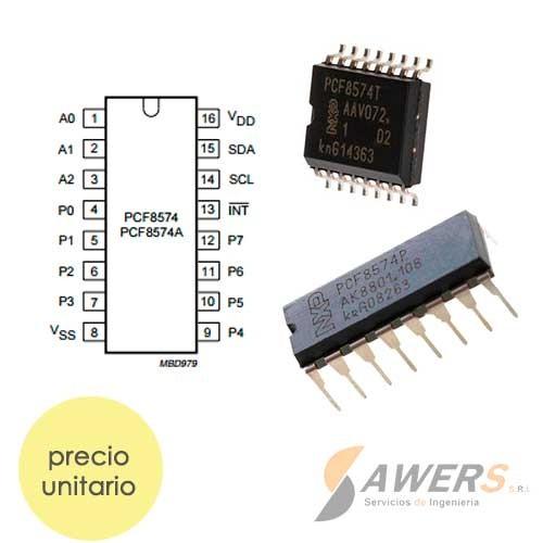 PCF8574 DIP/SMD Expansor de BUS I/O I2C 8Bit
