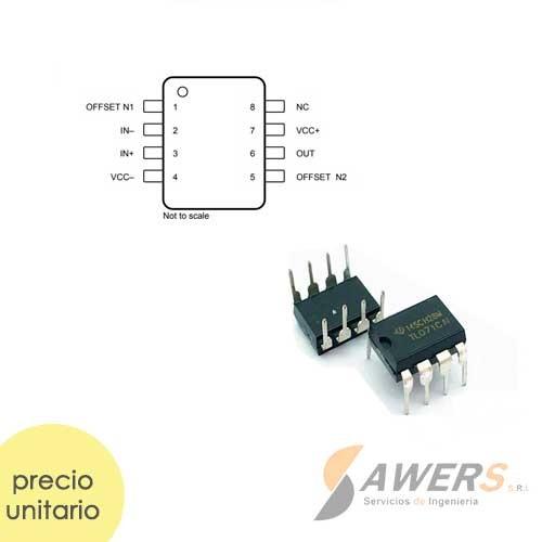 TL071 OP-AMP JFET-input bajo ruido 3Mhz