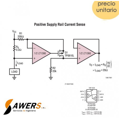 LT1368 OP-AMP Rail-to-Rail presicion 150uV