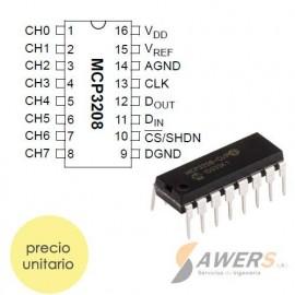 MCP3208 Conversor ADC 12Bit 8CH