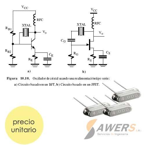 XT 4 Mhz Dip Oscilador de Cristal de Cuarzo