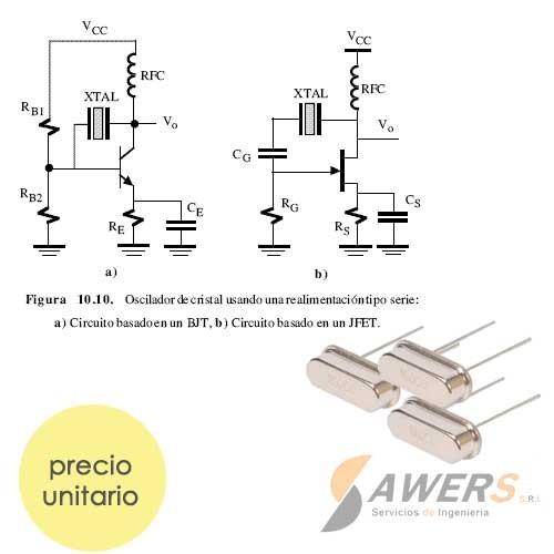 XT 16 Mhz Oscilador de Cristal de Cuarzo Corto