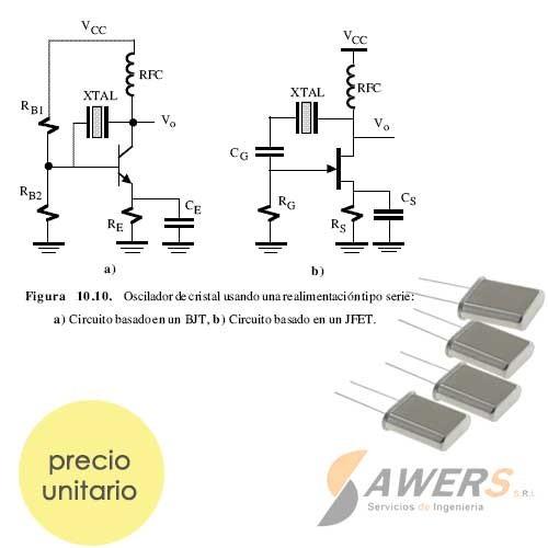 XT 16 Mhz Dip Oscilador de Cristal de Cuarzo Largo