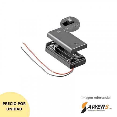 Portabaterias 2AA con Interruptor