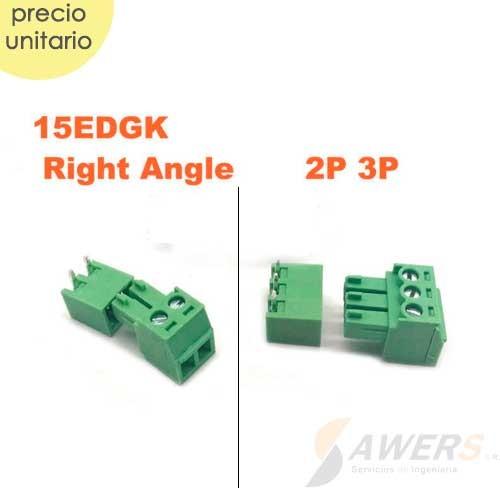 Bloque terminal 3.5mm KF2EDGK (Hembra) 2P 3P