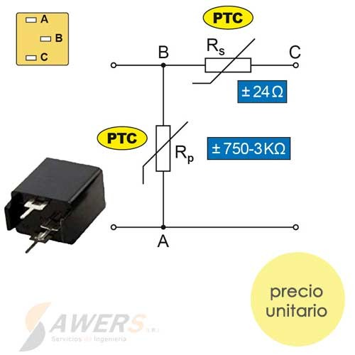 PTC Termistor MZ73 - 27ohm para TV a color