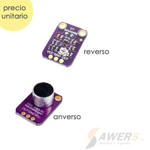 MAX4466 Amplificador Microfono Ganancia Ajustable