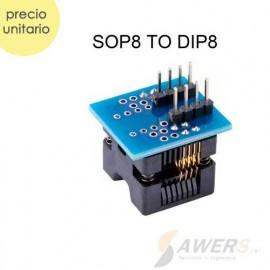 Zocalo SOP8 Socket a DIP-8