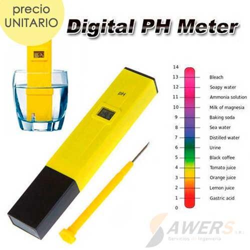 Medidor de PH digital 0 - 14pH