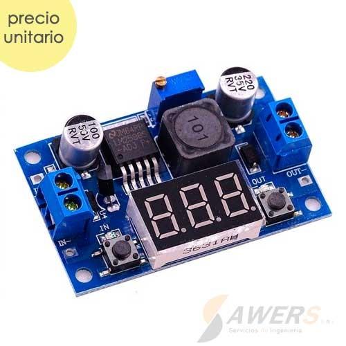 LM2596 Regulador Step-Down 2-37V 3A con voltimetro