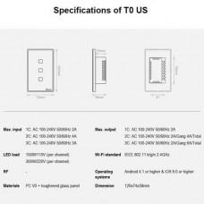 Sonoff TX T0US2C (Interruptor de Luz Tactil WiFi 2020)