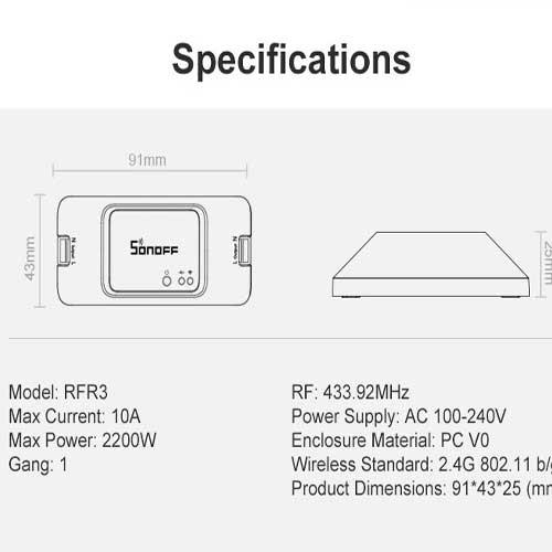 Sonoff RF R3 DIY (Interruptor WIFI-RF con API REST)