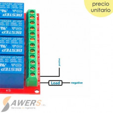 Modulo Relay 8CH 5VDC USB controlado por software