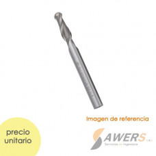Fresa de corte espiral Tin Ball Nose 2 flauta CED=1.5mm