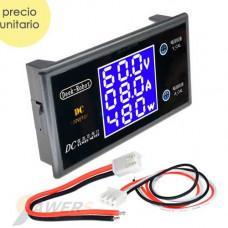 Voltimetro/Amperimetro/Wattimetro para tablero 100V-10A