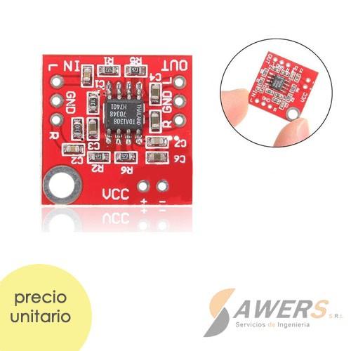 TDA1308 Amplificador Stereo Clase AB (audifonos)