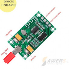 PAM8403 Amplificador Stereo 3W con Bluetooth 4.0 V1