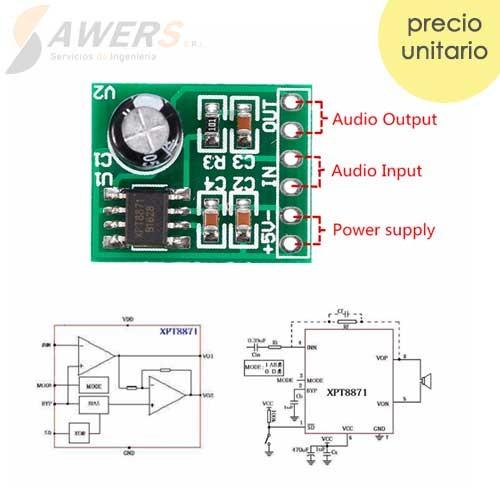 XPT8871 Amplificador de Audio Mono 5W
