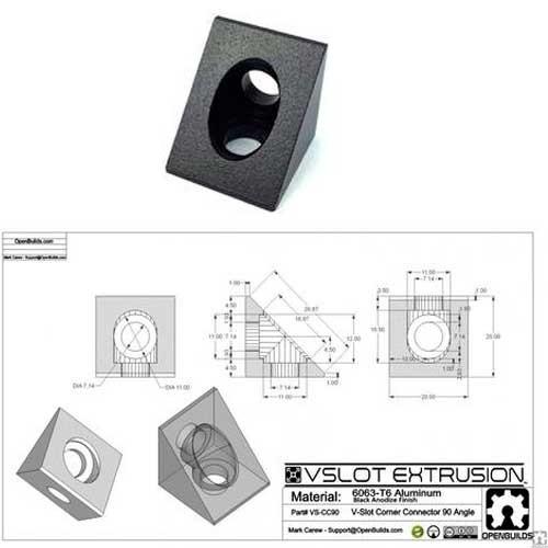 Bloque esquinero angular (Angle Corner Connector)