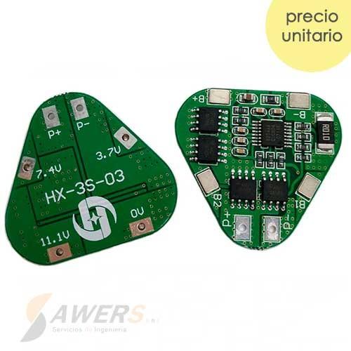 BMS Circuito de carga y descarga 3S 12.6V 8A 18650