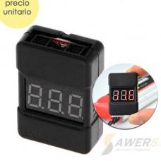 BX100 Probador de voltaje para baterias LIPO 1S a 8S