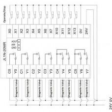 FX1N-20MR Controlador Industrial PLC 20CH I/O Relay