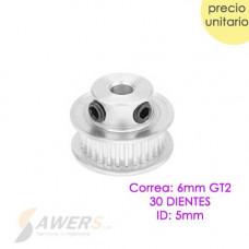 Polea GT2-30D ID-5mm Correa-6mm