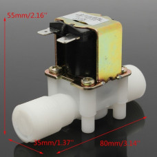 Valvula Magnetica Solenoide DC 12V  1/2 de pulgada