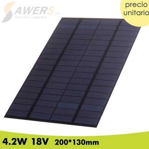 Panel Solar 18V 4.2W 200*130mm (policristalino)