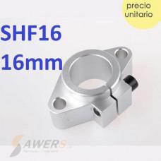 SHF16 Soporte sujetador eje lineal de 16mm