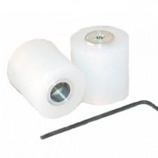 2xRueda mini seguidor de linea rugosa 20mm - Par